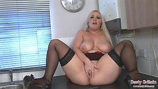 MILF Angel D Plays With Big Boobs And Juggs