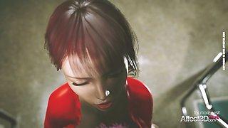 Futanari public anal sex in a hd animation