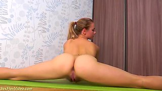 extreme hairy flexible teen workout