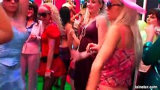 Superb sex dolls sucking cocks for jizz in public