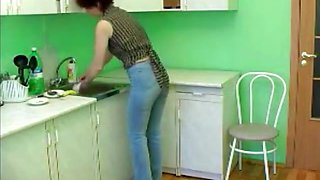 Redhead Milf Fucked in the Kitchen