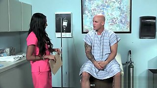 Latina nurse Sadie Santana gets both holes stretched hard