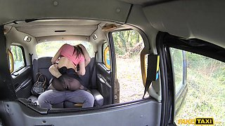 naughty babe can't wait to get ass fucked by taxi driver