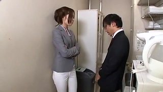 Best Japanese model Chiharu Nakai in Crazy Cunnilingus, Office JAV movie