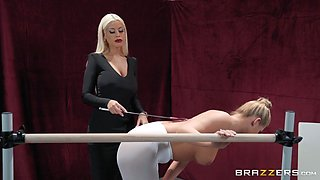 busty milf punished and dominated by her gymnastic trainer