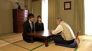 Akiho Yoshizawa in Bride Fucked by her Father in Law part 1.2