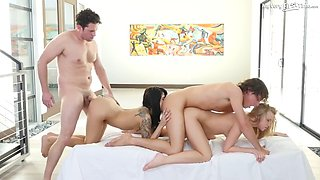 starlets sadie pop and bailey brooke and their first foursome