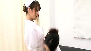 Lustful doctor seduces a beautiful nurse for a torrid lesbi