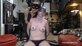 Lesbian breathplay domination