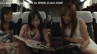 Incredible Japanese chick Sena Ayumu, Ryoka Yuzuki, Yuuka Konomi in Fabulous Bus, Small Tits JAV movie