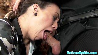 Hot European babs deepthroating