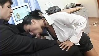 Beautiful secretary with a big ass loves to fuck