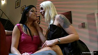 Hot Interracial Foursome With Cum Lovers India Summer and Lorelei Lee