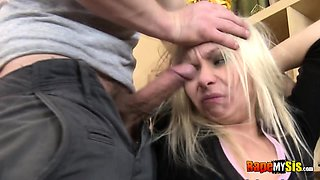 Blonde into rough anal hardcore
