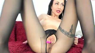 Pantyhose webcam masturbation
