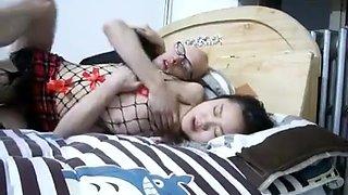 Chinese drunken very wet prostitute
