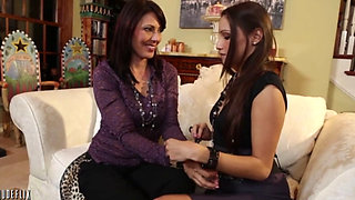 Milf dominated by younger woman