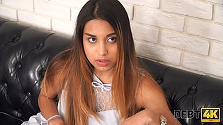 Debt4k. Spectacular teen has something more valuable than