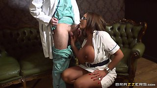 British Nurse Knows Her Way Around A Cock