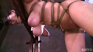 Smoking hot chick Kaho Shibuya gets pleased with new sex toys