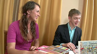 Young Tutor Pleasing Horny Teen Babe