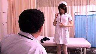 Voluptuous Japanese nurse wants to fuck a throbbing pole