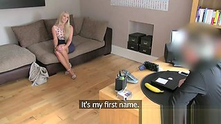 UK South African babe put through paces in fake casting