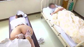Fabulous Japanese model Yumemi Nakagawa, Nachi Sakaki, Akari Asakiri in Horny Nurse, Threesomes JAV scene