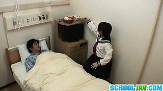 Naughty Teen Schoolgirl Fucks A Guy At The Hospital