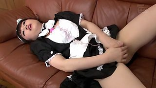 Best Japanese model in Hottest Toys, Maid JAV clip