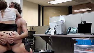 A smoking hot secretary seducing her boss and gets scored in the office