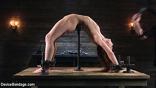 Alexa Nova,The Pope in Petite Slave Alexa Nova Locked in Metal Bondage and Tormented Orgasms - DeviceBondage