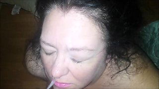 Big Milf Smoking And Getting jizzed