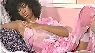 Hot curly ebony chick blows cock and gives interview