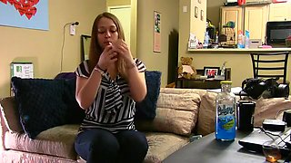 Hottest homemade Brunette, Smoking porn movie