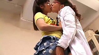 Lesbian doctor seduces girl in session