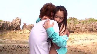 Hottest Japanese model Kana Tsuruta in Best Doggy Style, Outdoor JAV video