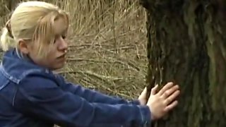 Retro college girl Fucked In The Forest