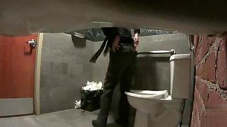 Real women pee in toilet secret cam video