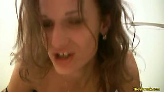 This crazy bitch is so wild and she never gets tired of masturbating