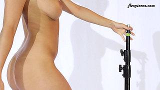 Flexible Blonde Slava Andreykina