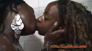 african lesbos yvonne and simone showering together