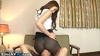 Japanese best sex in black collants