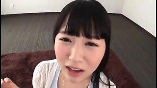 Real asian girlfriend pov facial