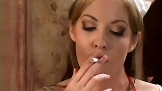 An aggressive doctor has his filthy way with a smoking hot nurse