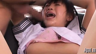 Asian schoolgirl likes to explore rods and to get shoved