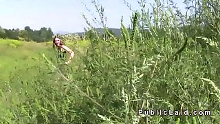 Dude bangs hitchhiker outdoor pov