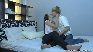 Casual Teen Sex - Horny teens find themselves in bed