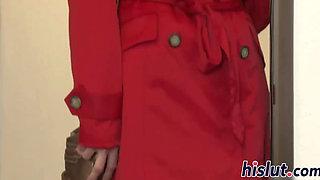 Foxy redhead has her asshole rammed hard