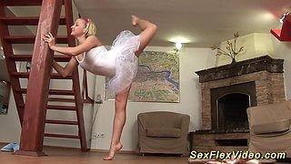 flexi ballerina bending and gagging